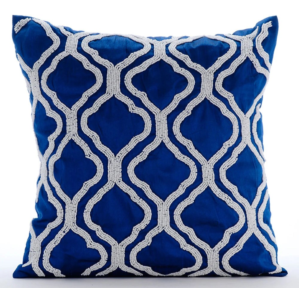 Best Royal Blue Throw Pillows Cover 16X16 Silk This Month