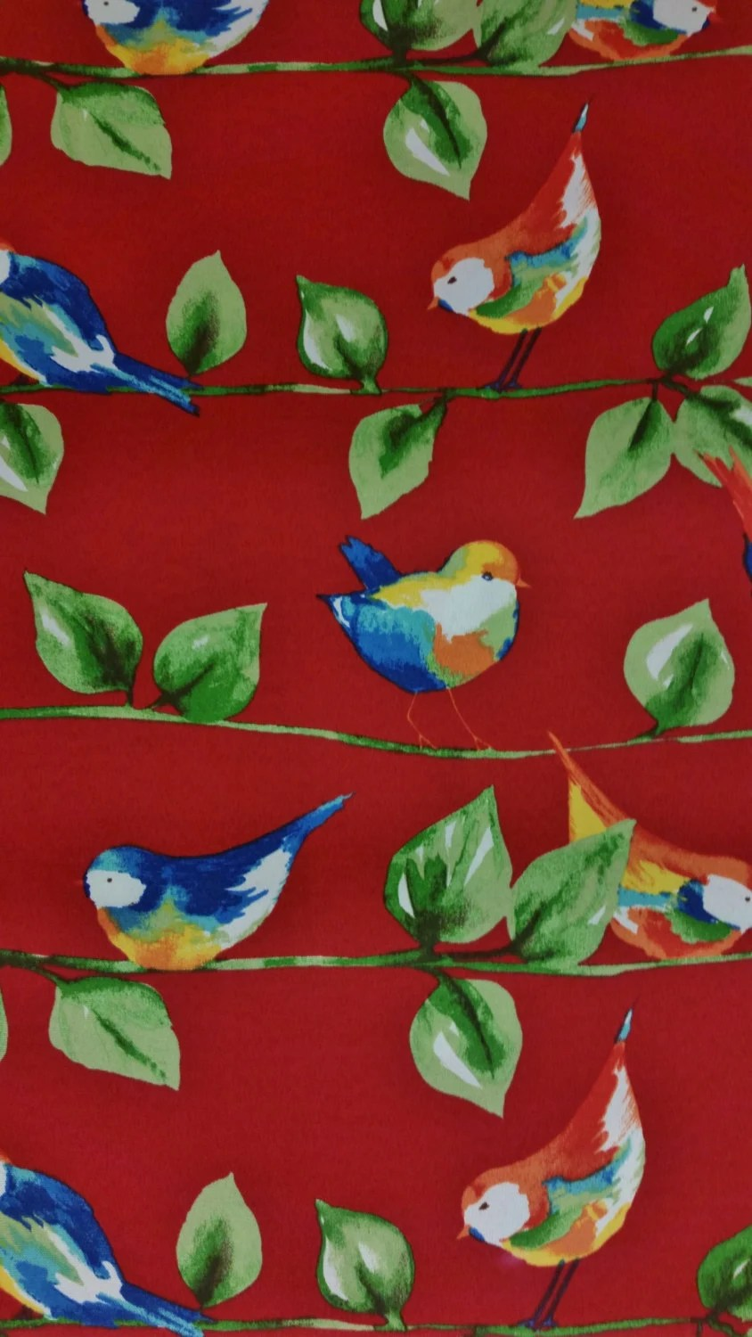Best Home Decor Fabric Feathered Friends Berry Red Solarium This Month