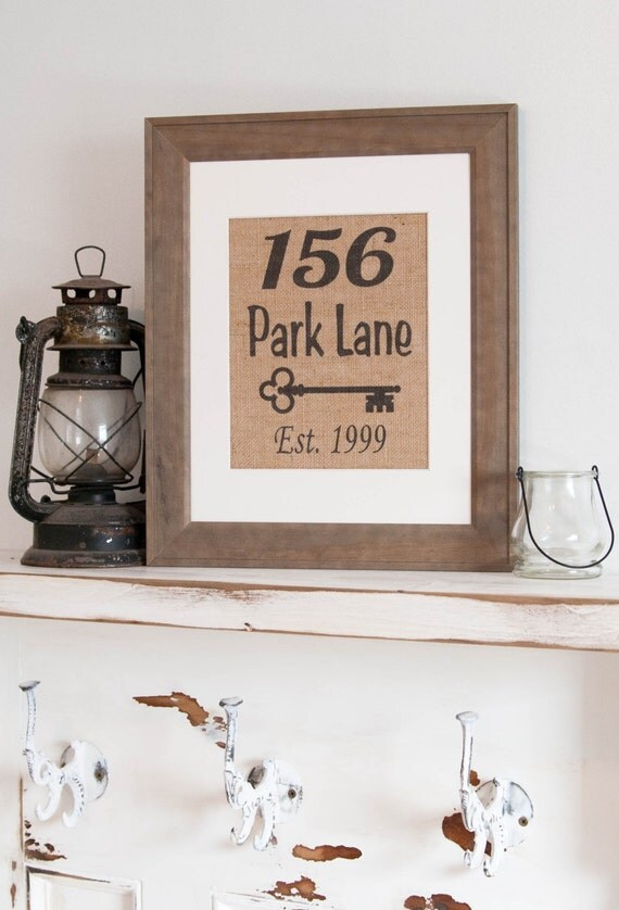 Best Personalized Burlap Print Address Wall Decor By Mrandmissis This Month