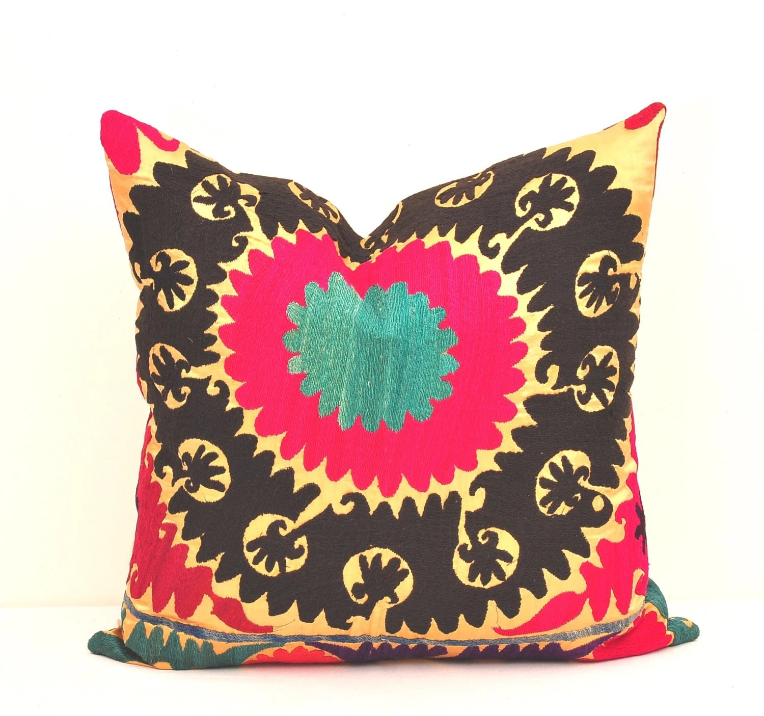 Best Pillows 20 X 20 Inch Throw Pillow Cover Vintage Suzani This Month