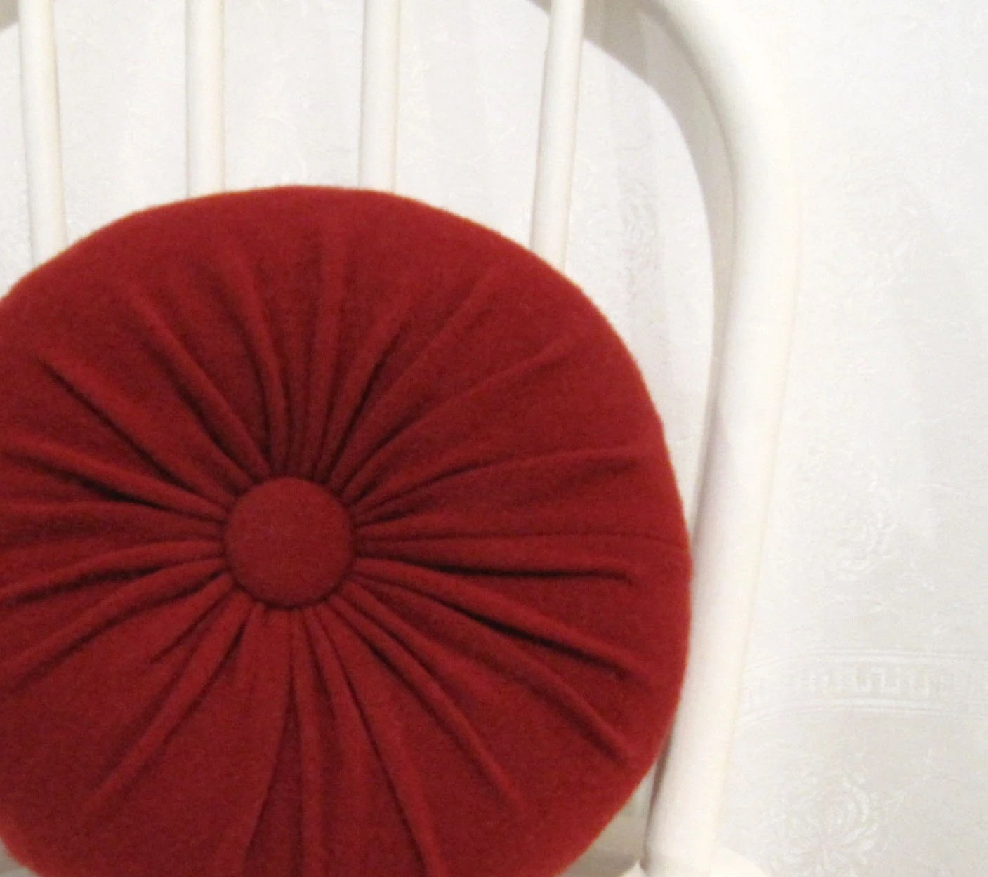 Best Red Cashmere Round Throw Pillow Accent Decorative Couch This Month