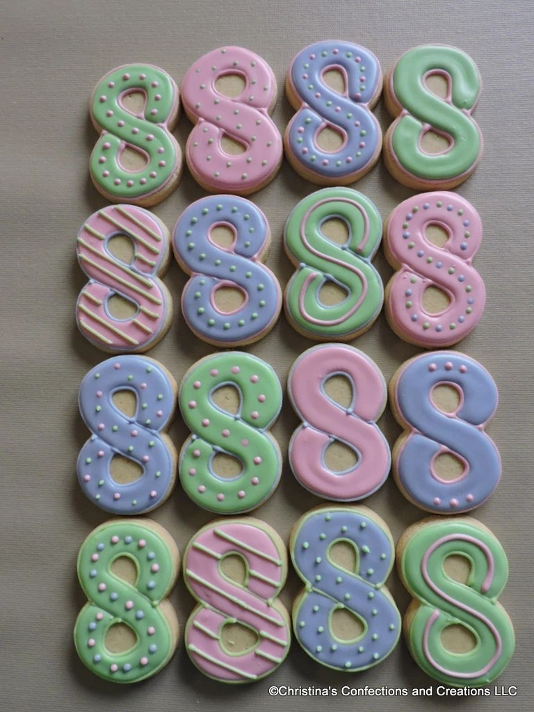 Best Number 8 Hand Decorated Sugar Cookies For Birthdays 2594 This Month