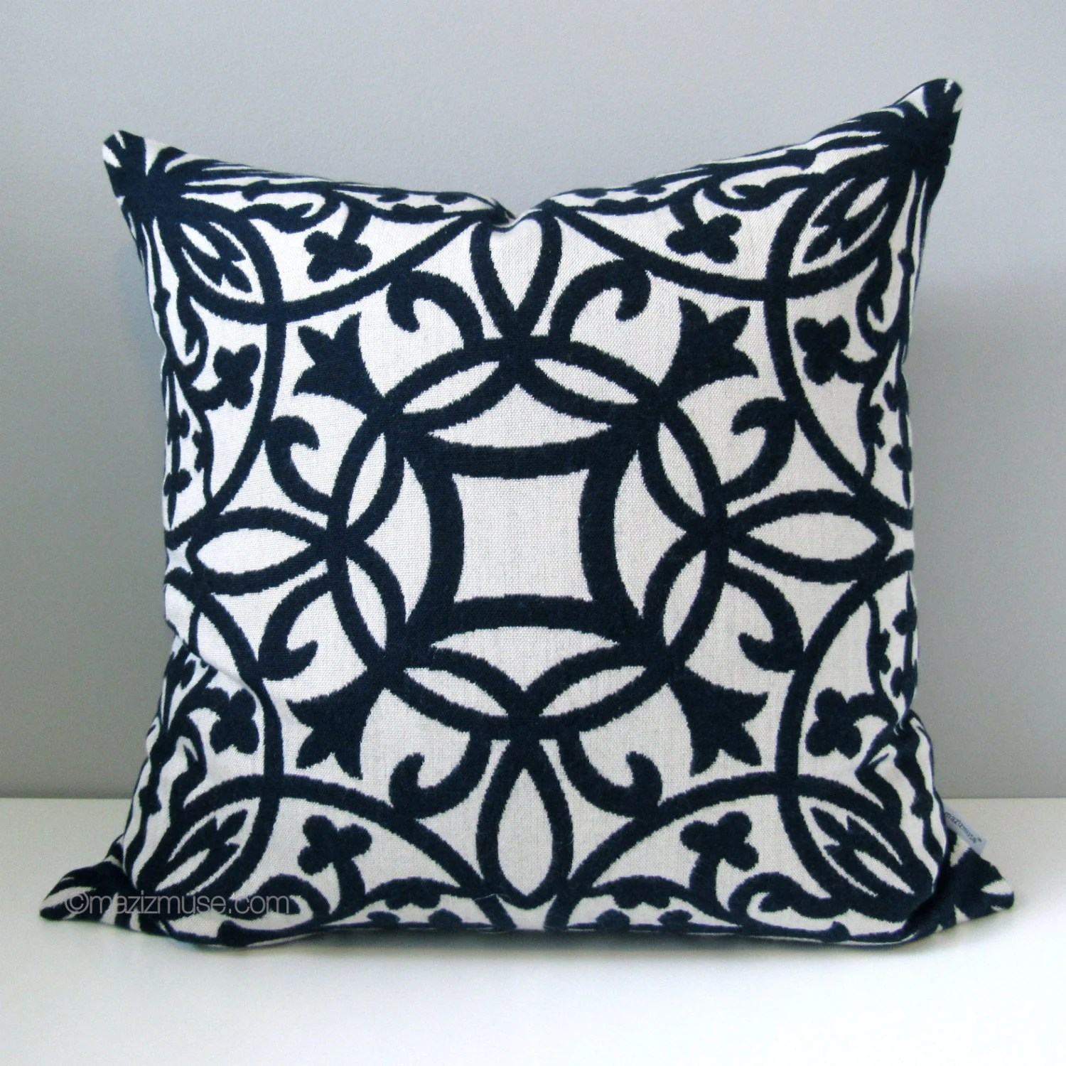 Best Sale Navy Blue White Pillow Cover Decorative Pillow Case This Month