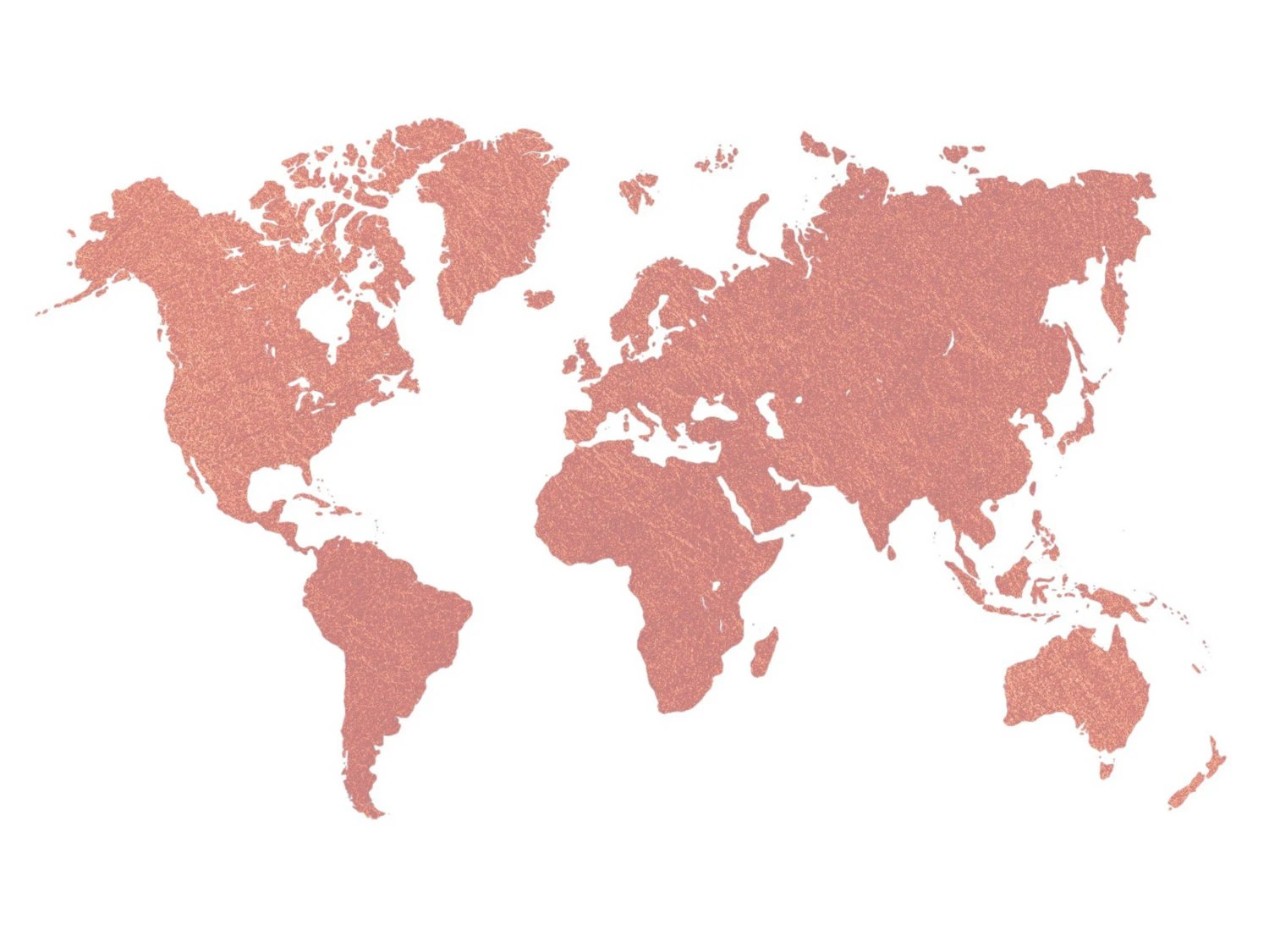 Best Rose Gold World Map Printable Wall Art Room Decor Nursery This Month