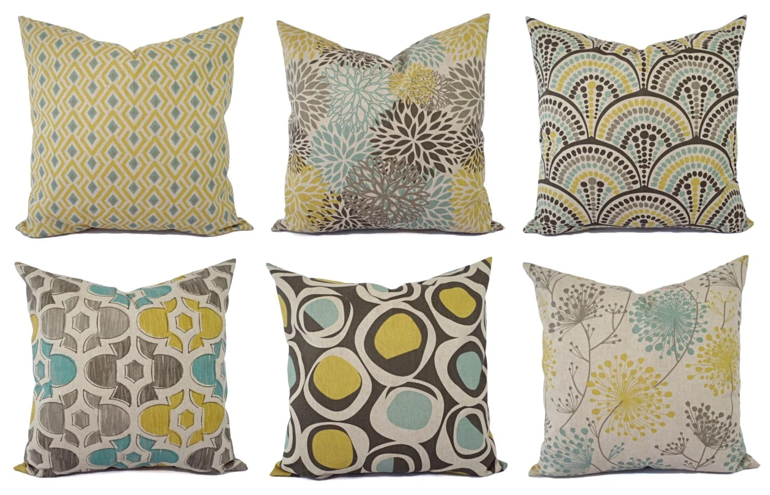 Best Decorative Pillow Yellow Blue And Beige Decorative Pillow This Month