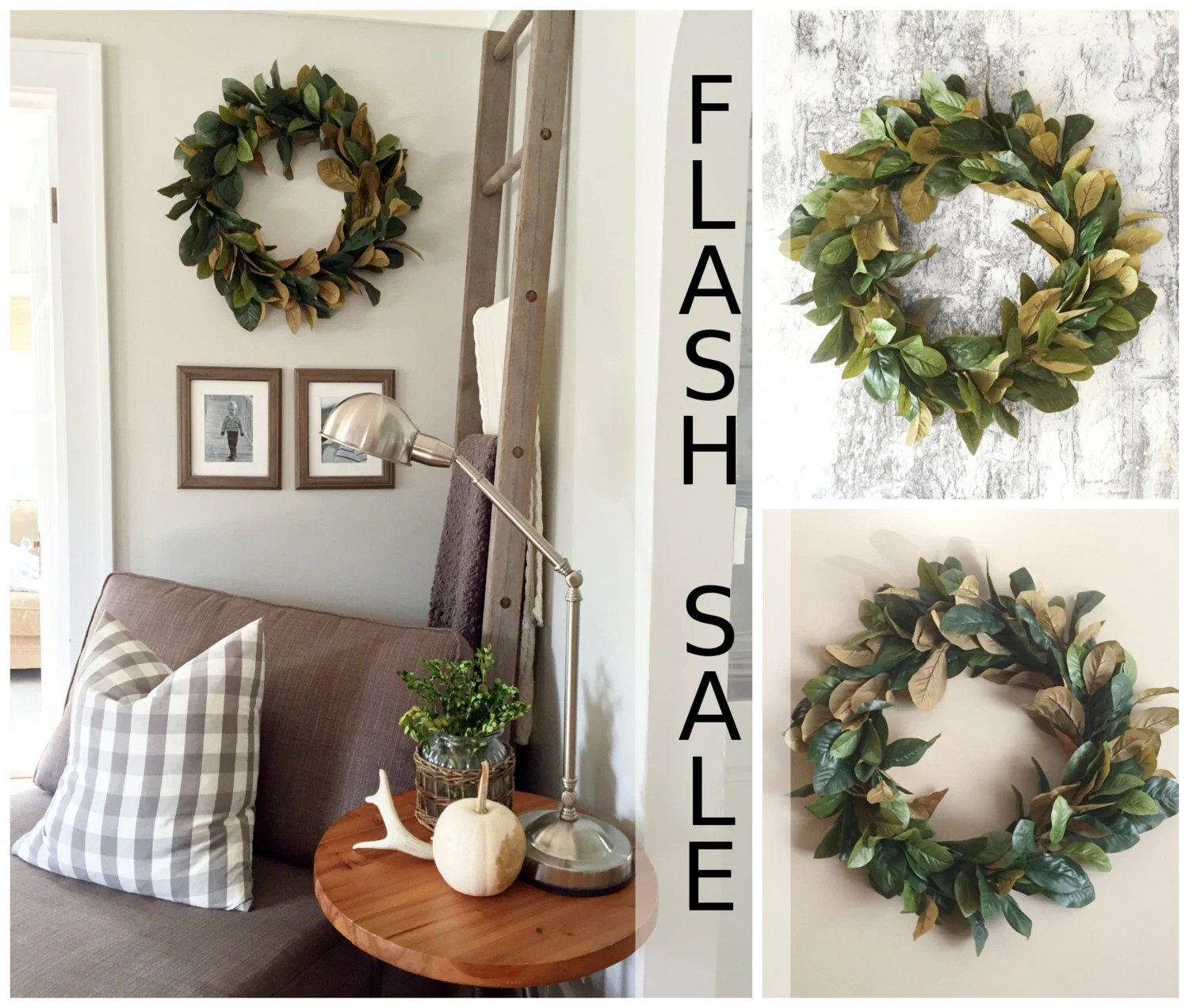 Best Flash Sale Magnolia Wreath Home Decor Farmhouse Wreath This Month