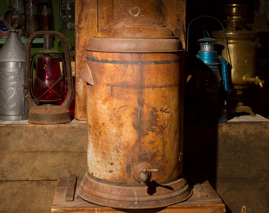 Best Antique Water Cooler Toleware Water Jug With Spigot This Month