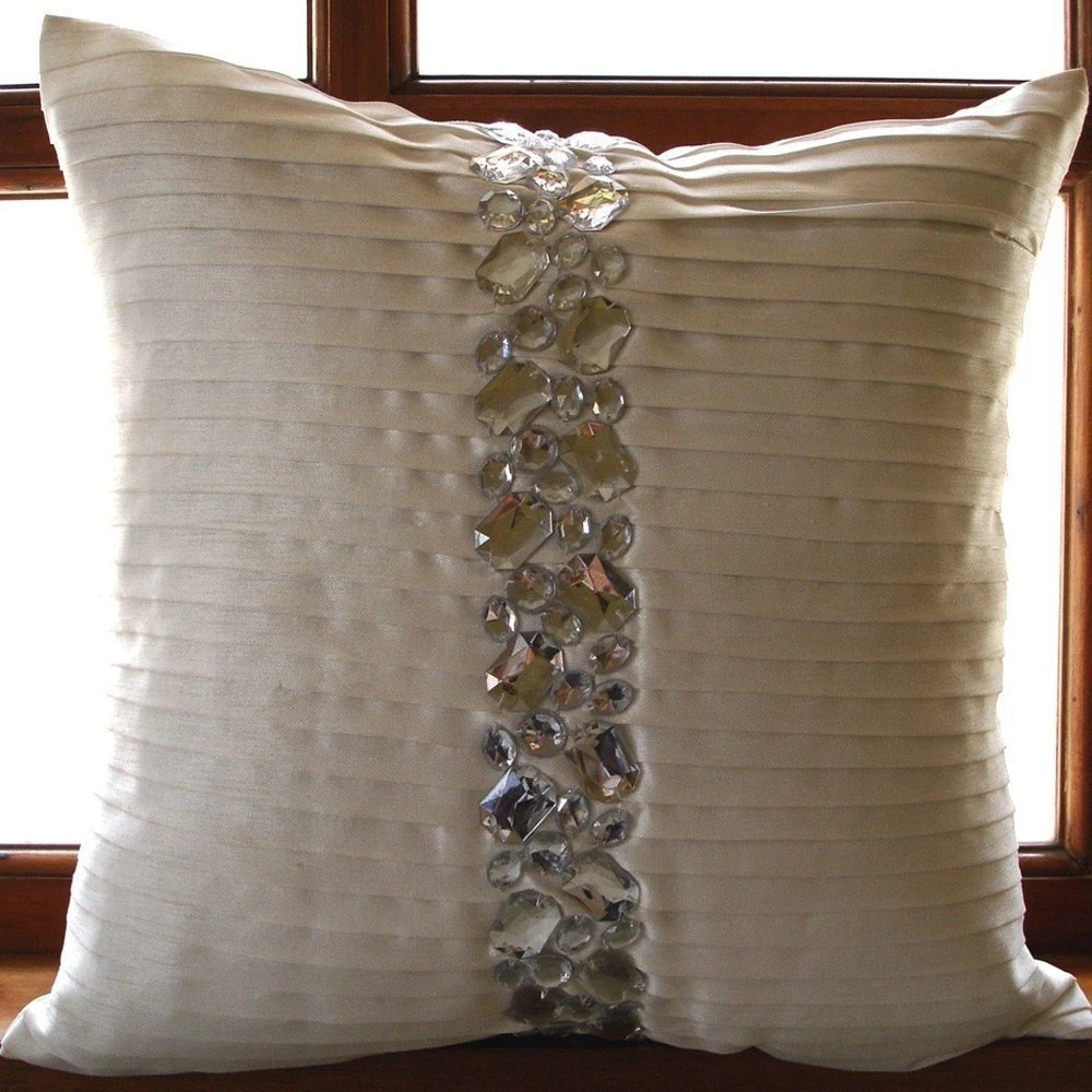 Best Luxury White Decorative Pillows Cover 16X16 Silk This Month