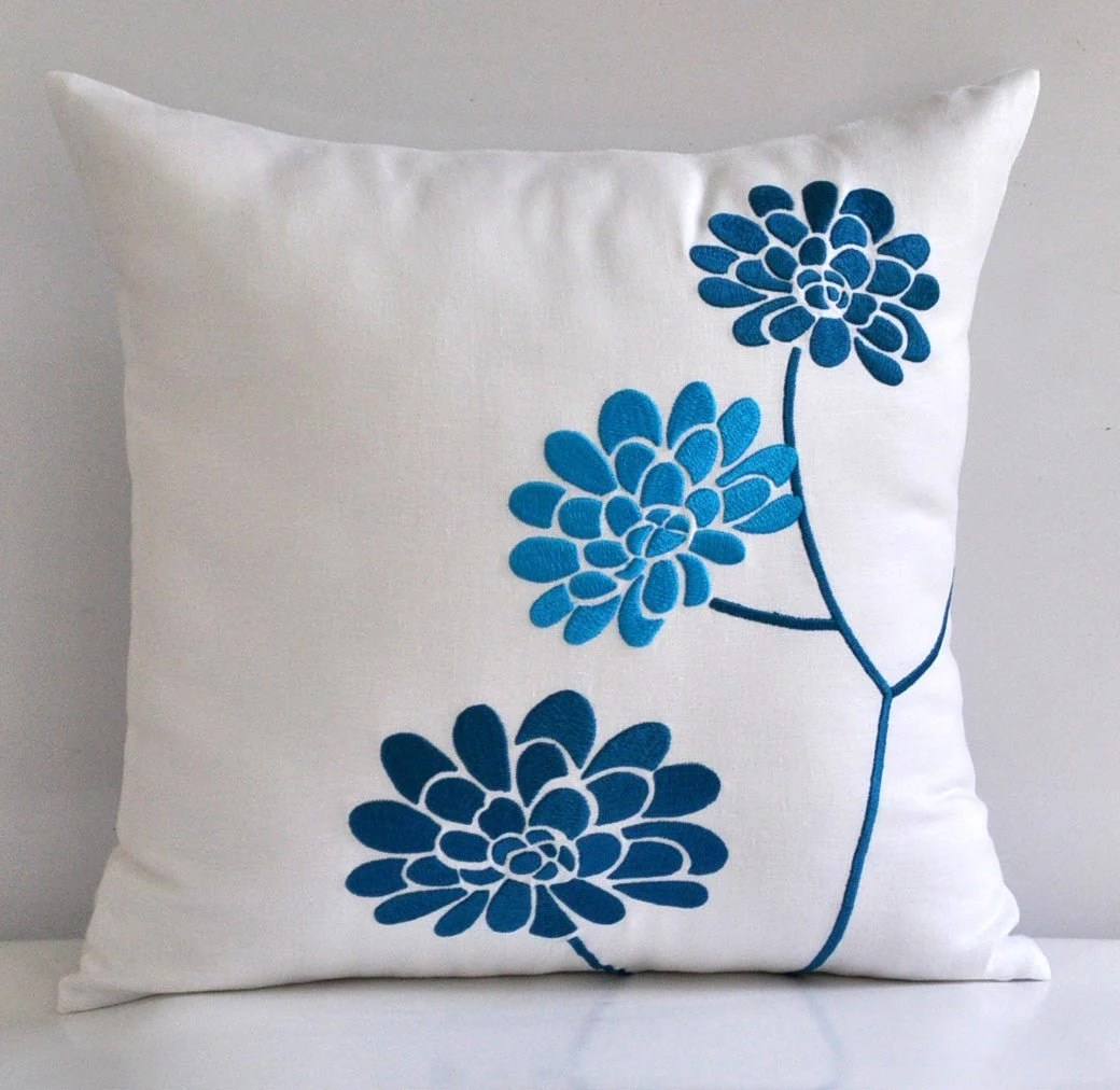 Best Turquoise White Pillow Cover Decorative Pillow Coverthrow This Month