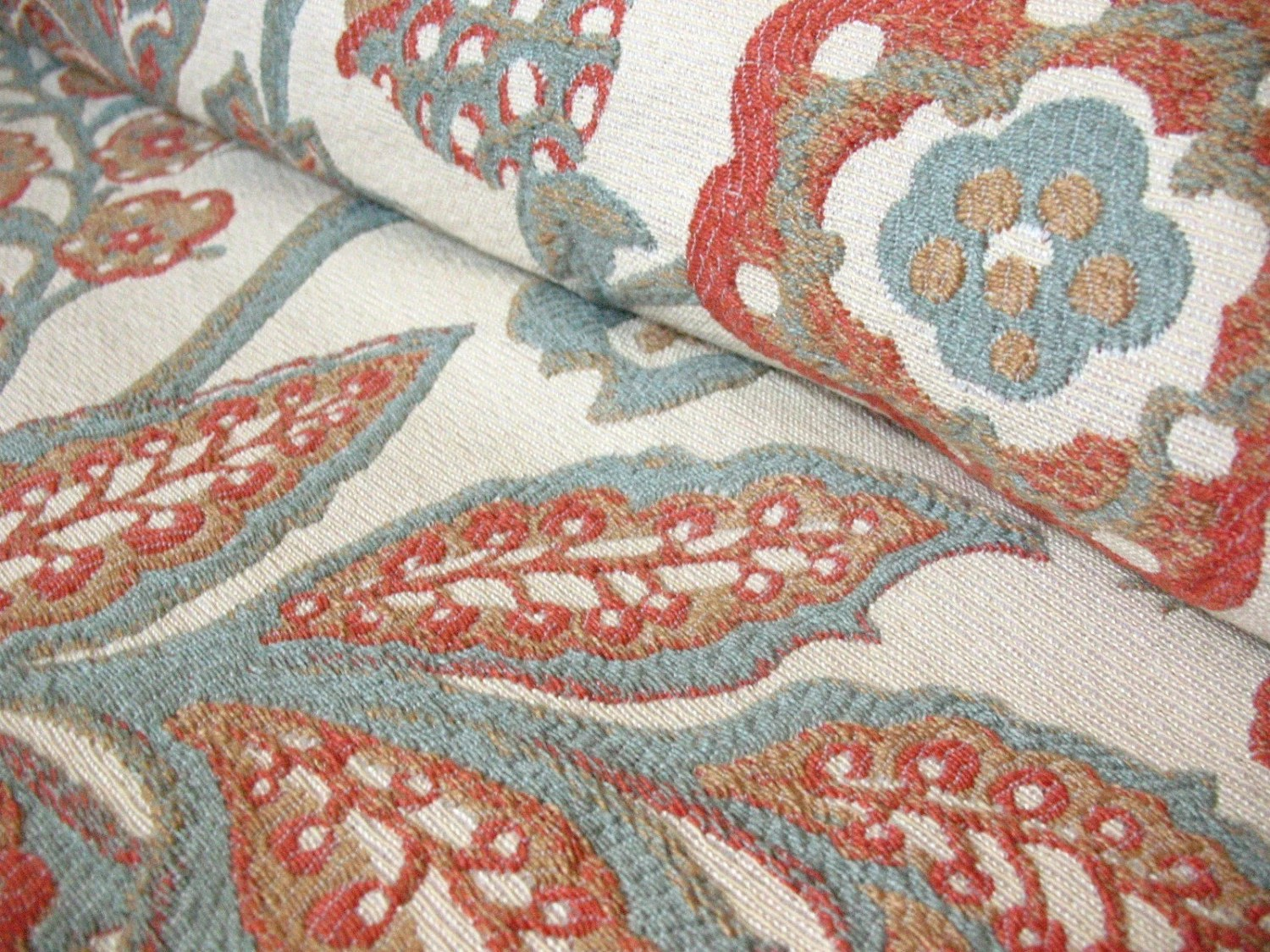 Best Reserved For Nin1 Coral And Blue Floral Home Decor Fabric This Month