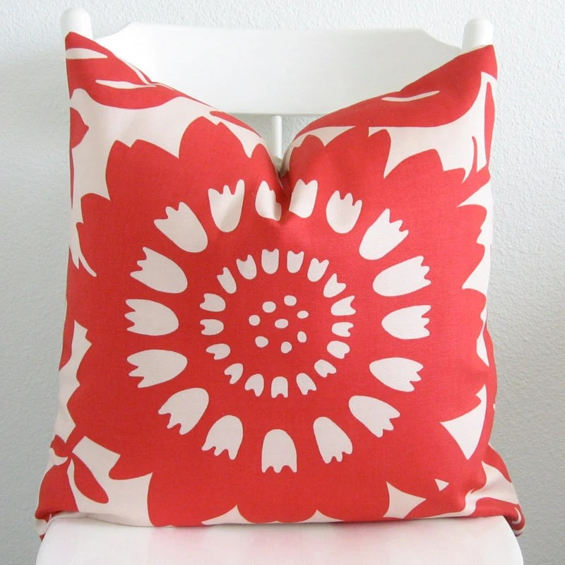 Best Decorative Pillow Cover Throw Pillow 20X20 Red Beige This Month