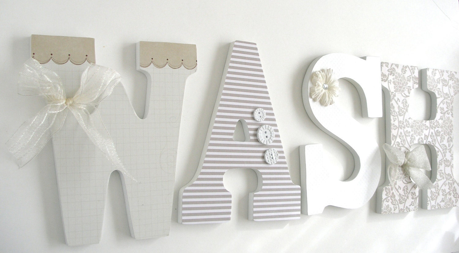 Best Wash Large Wooden Letters Decoupaged Wooden Letters Laundry This Month