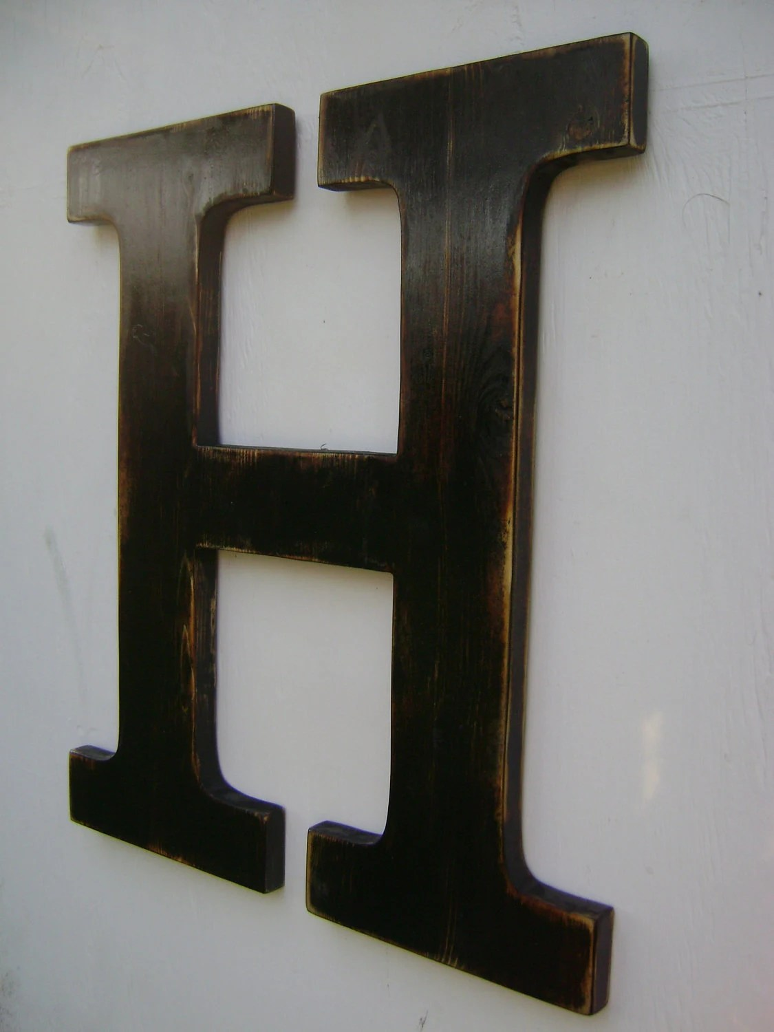 Best Big Wall Hanging Wooden Letter H Nursery Decor Painted This Month
