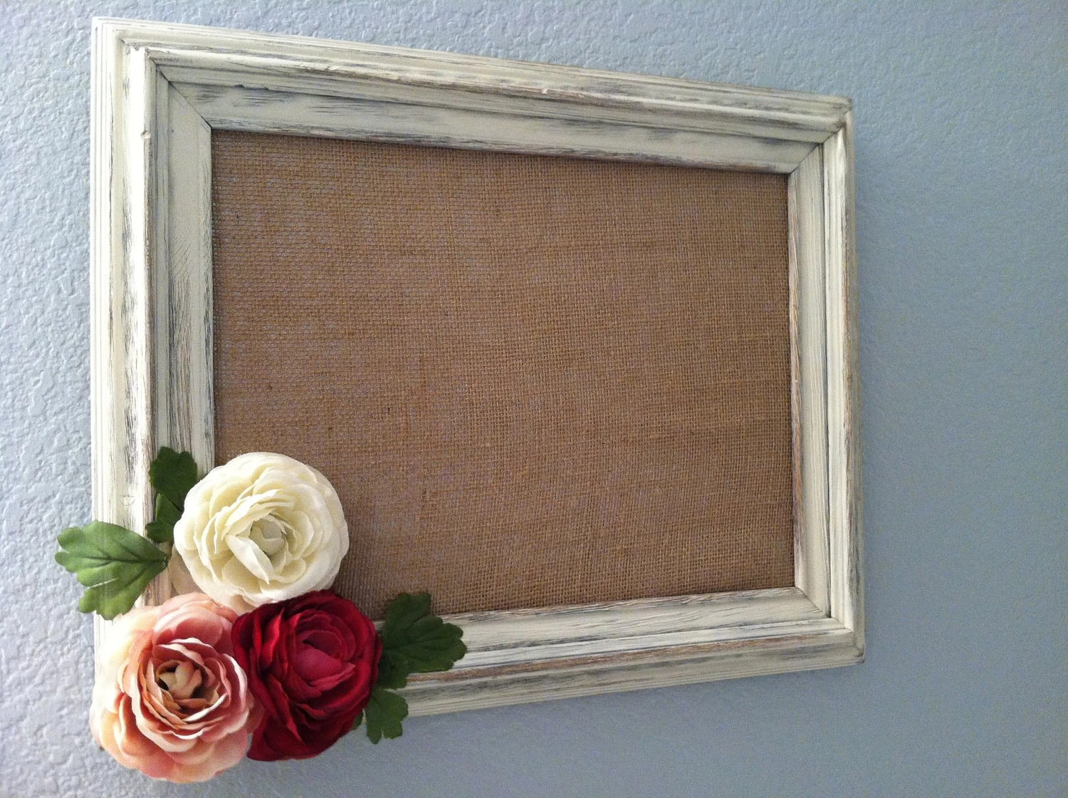 Best Decorative Magnetic Framed Burlap Board With Distressed This Month