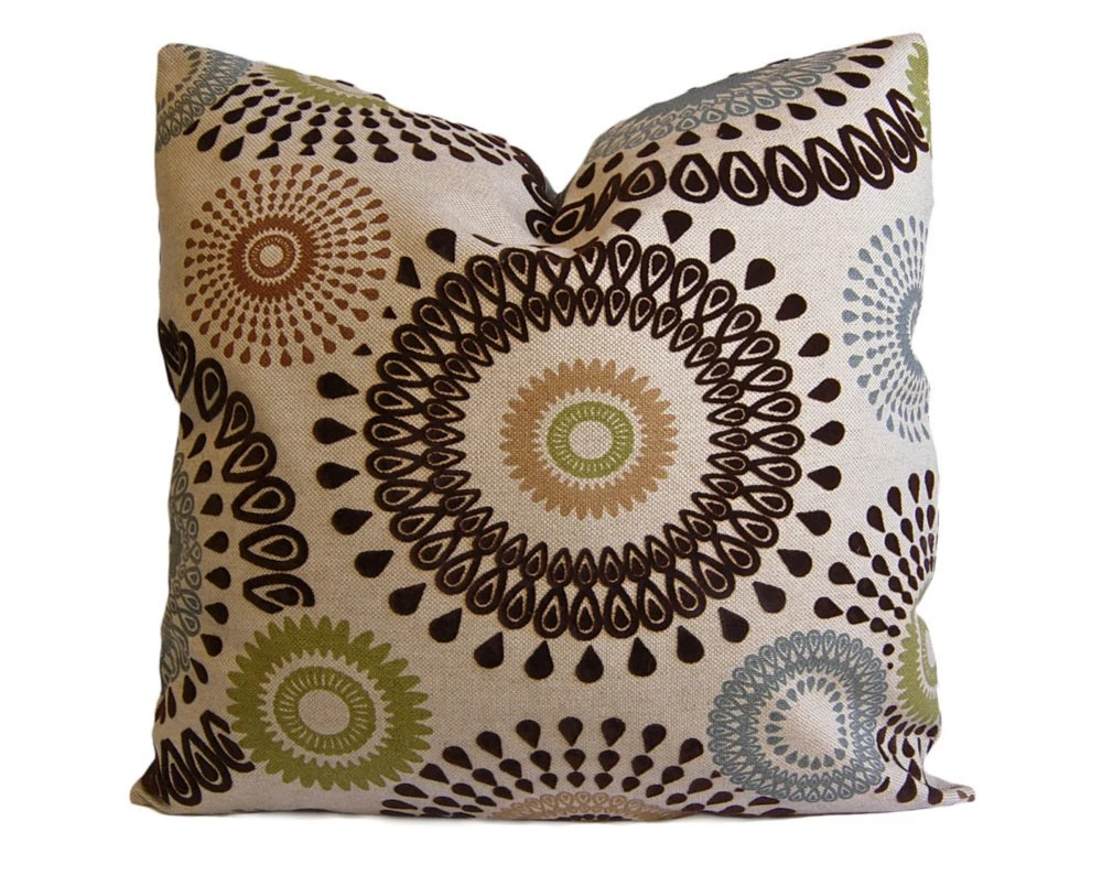 Best Brown Olive And Slate Suzani Decorative Pillow Cover Throw This Month