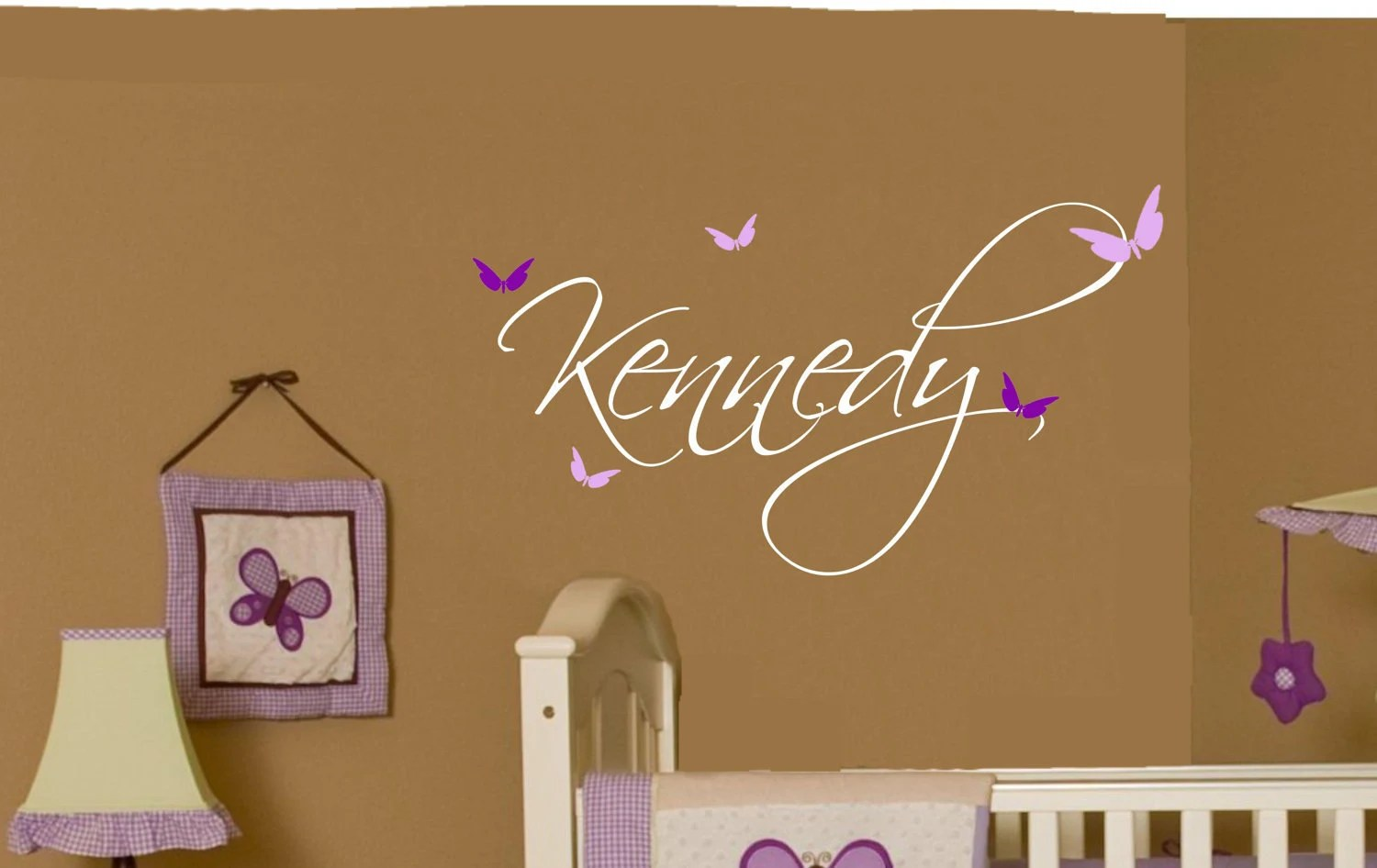 Best Butterfly Name Baby Girl Wall Decal Nursery Decor Vinyl This Month