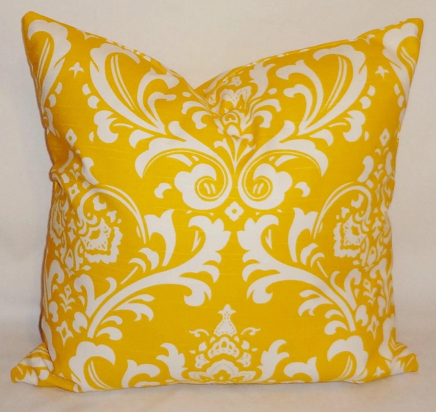 Best Decorative Pillows Corn Yellow White Damask Pillow By This Month