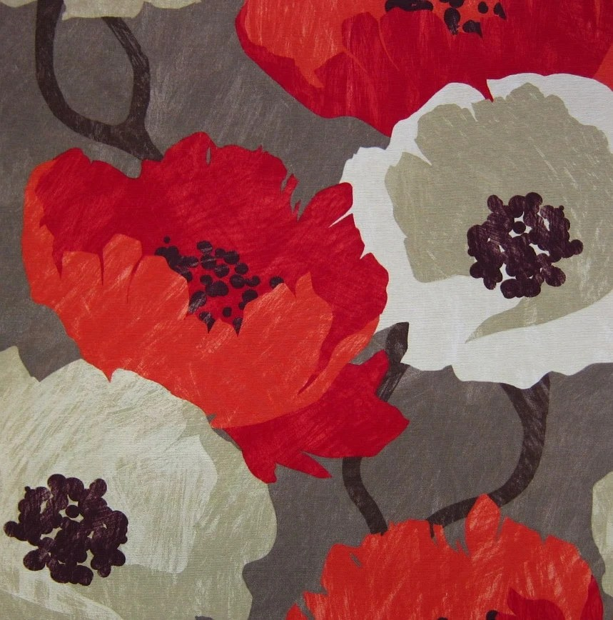 Best Modern Floral Fabric Red Large Scale Floral Print Design This Month