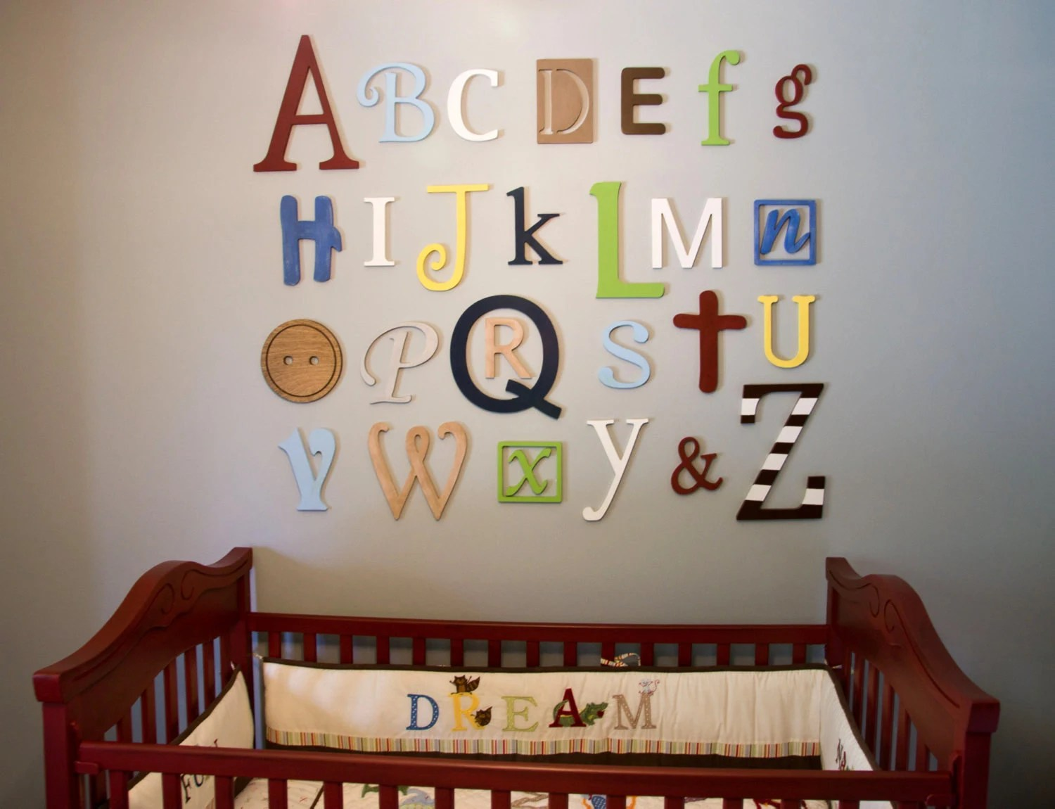 Best Wooden Alphabet Letters Set Painted Wooden Letters Wall This Month