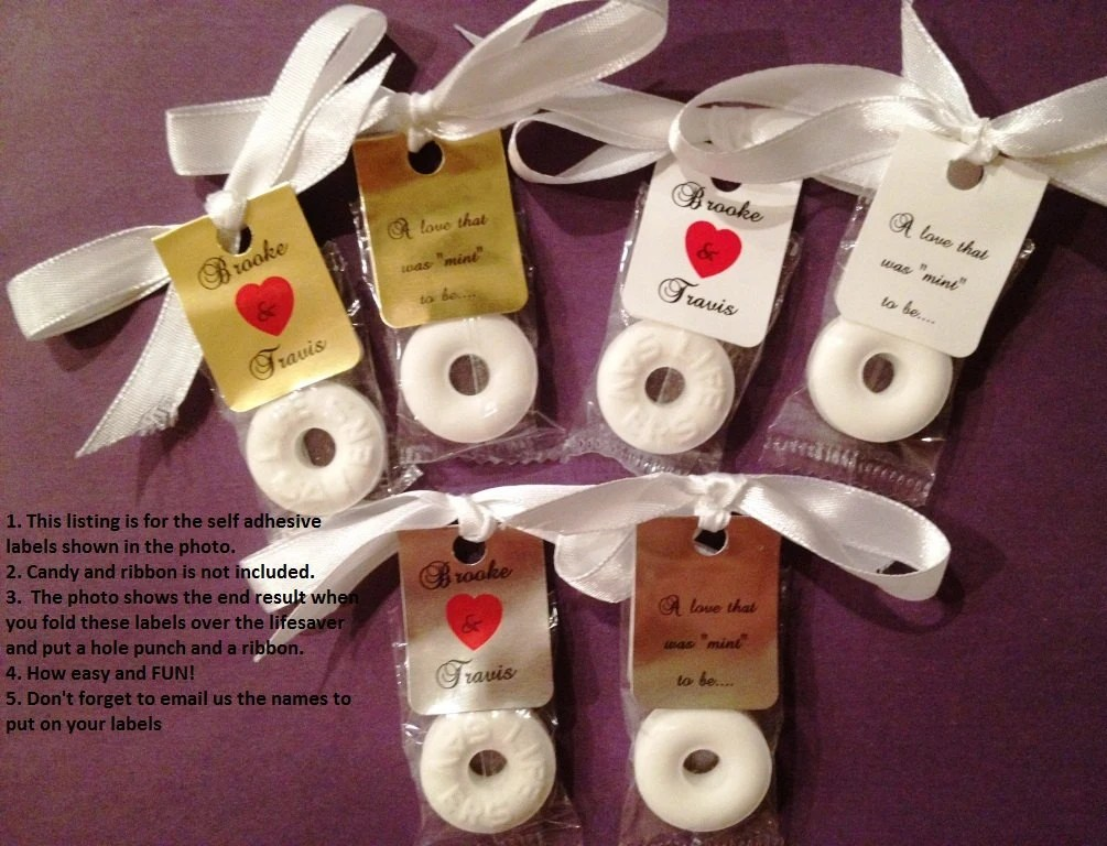 Best 30 Personalized Lifesaver Favor Labels For Wedding Or Party This Month