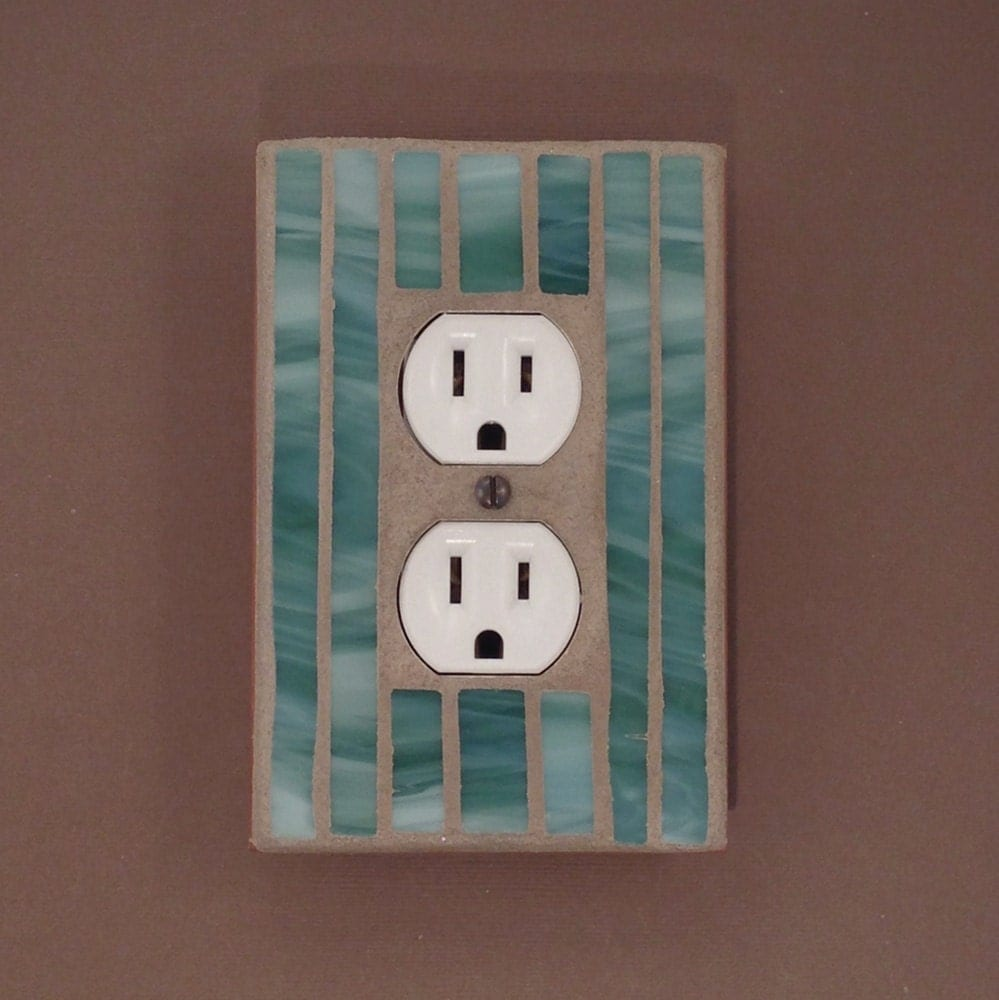 Best Green Decorative Outlet Cover Wall Outlet Plate Stained This Month