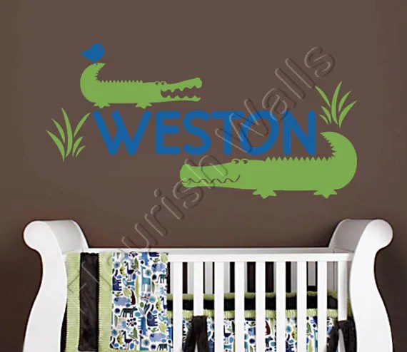 Best Items Similar To Alligator Wall Decal Personalized Vinyl This Month