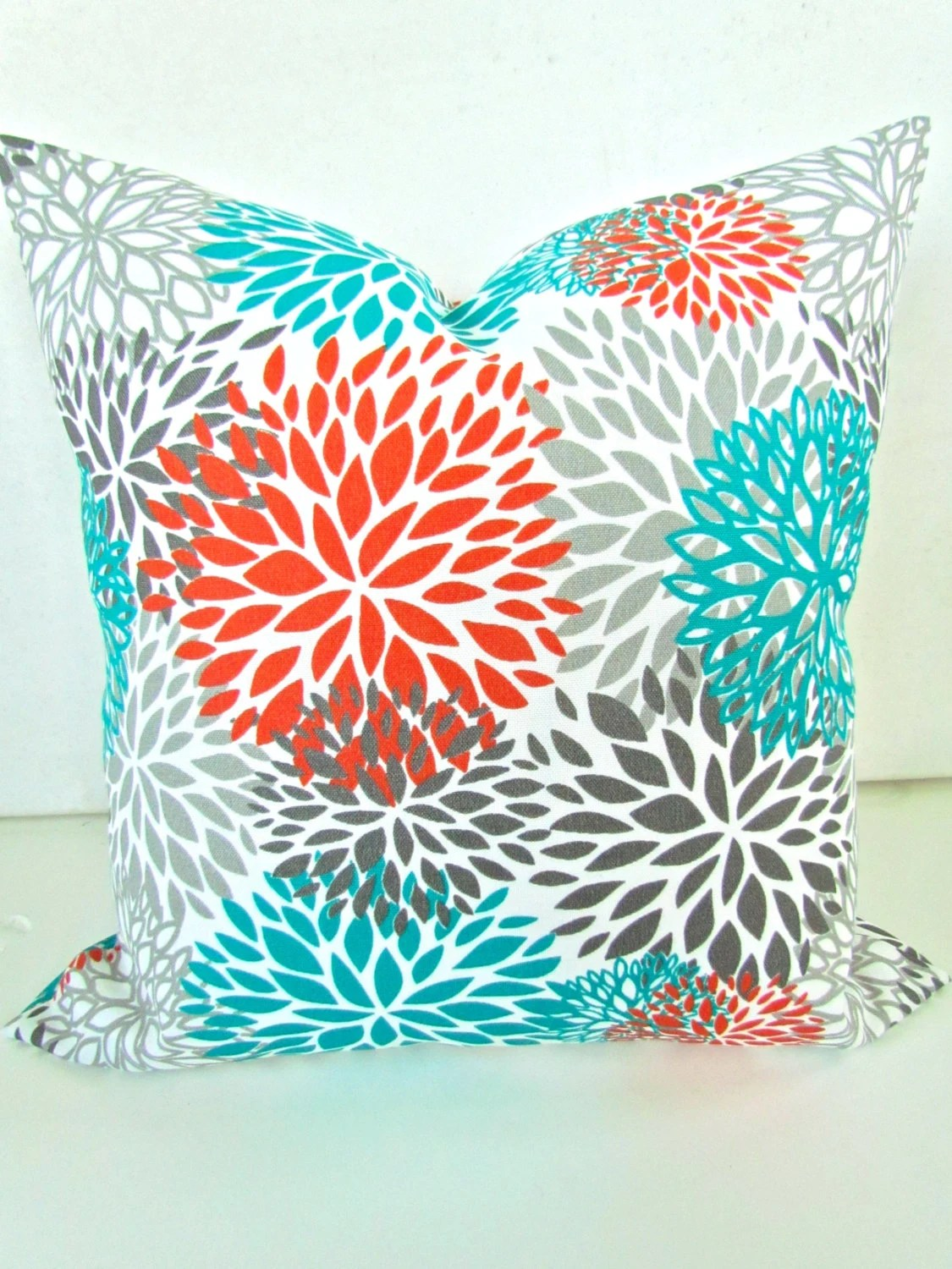 Best Orange Pillows Orange Teal Throw Pillow Covers Turquoise This Month