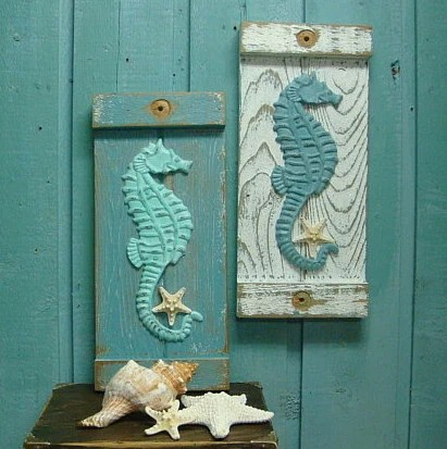 Best Seahorse Starfish Sign Wall Art Beach House Decor By This Month