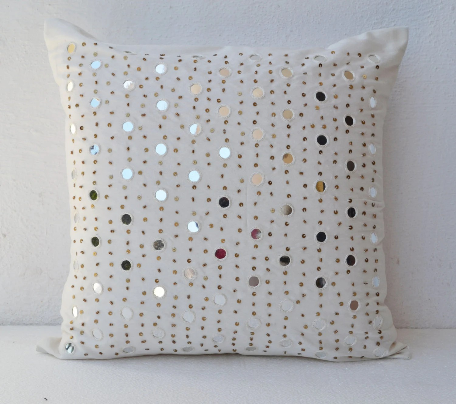 Best Decorative Throw Pillows Silk White Mirror Embroidery Pillow This Month