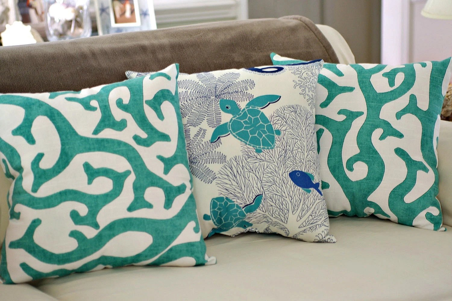 Best Beach House Decor Coral Reef 18X18 Throw Pillow Pick Fabric This Month