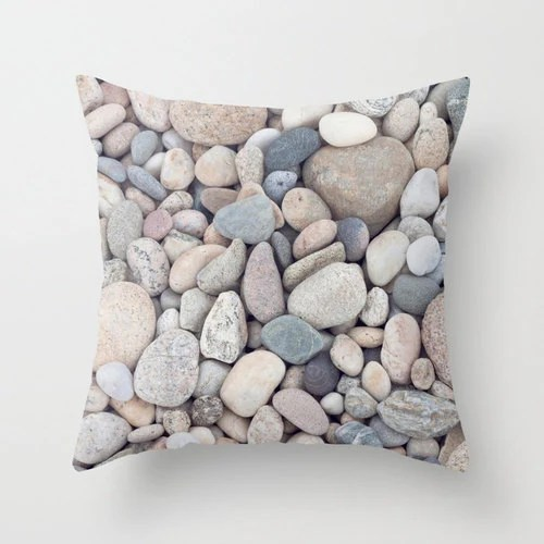 Best Beach Stones Photography Pillow Or Decorative Pillow Cover This Month