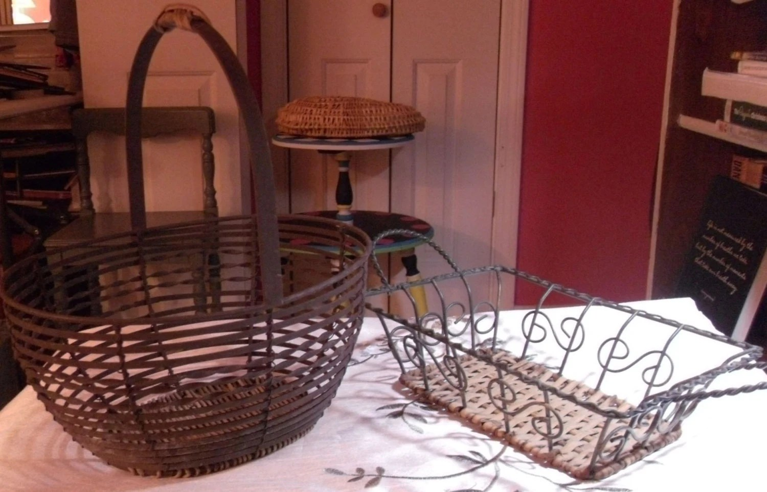 Best Vintage Metal Baskets Craft Supplies Wire And Braided This Month