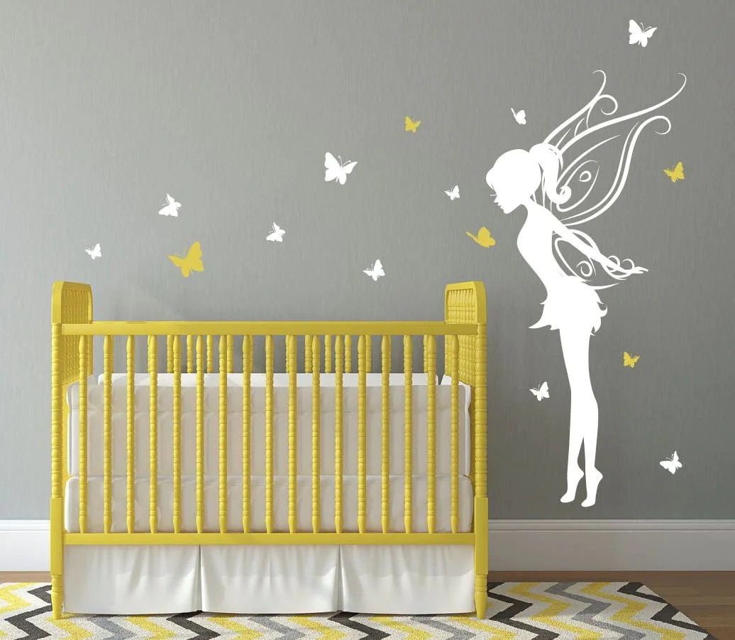 Best Baby Girl Room Decor Fairy Wall Decal W Butterflies Vinyl This Month