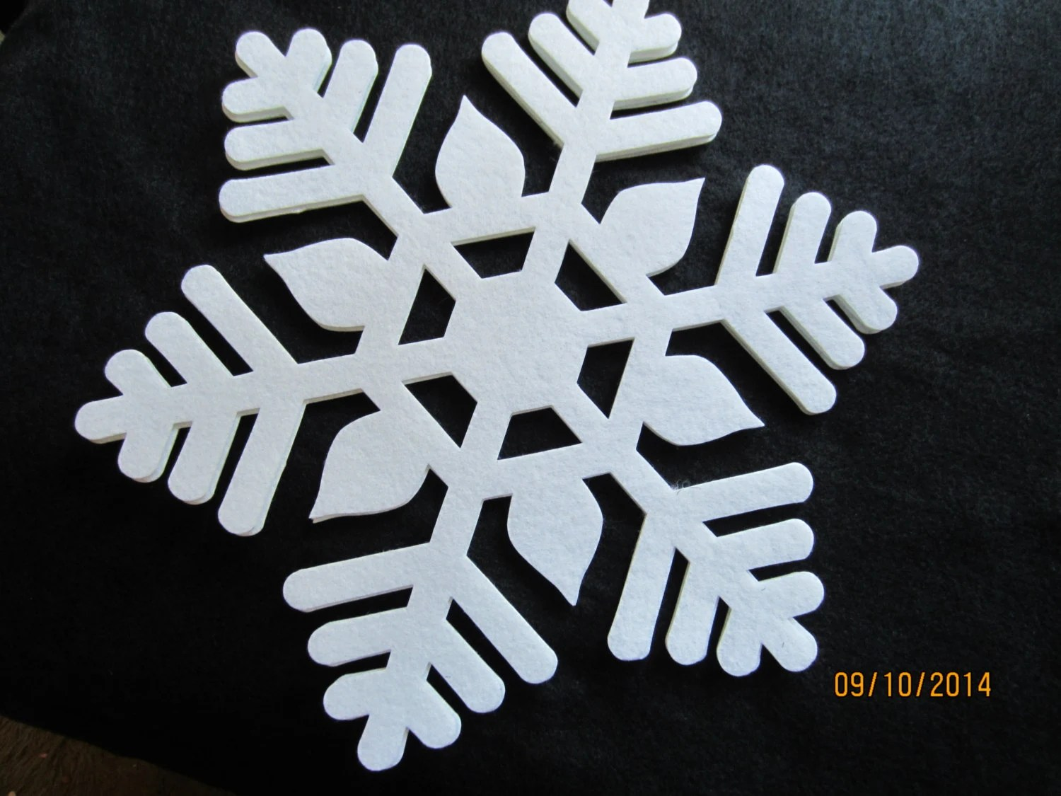 Best Extra Large Iron On Felt Snowflakes 6 Quilting Fabric This Month