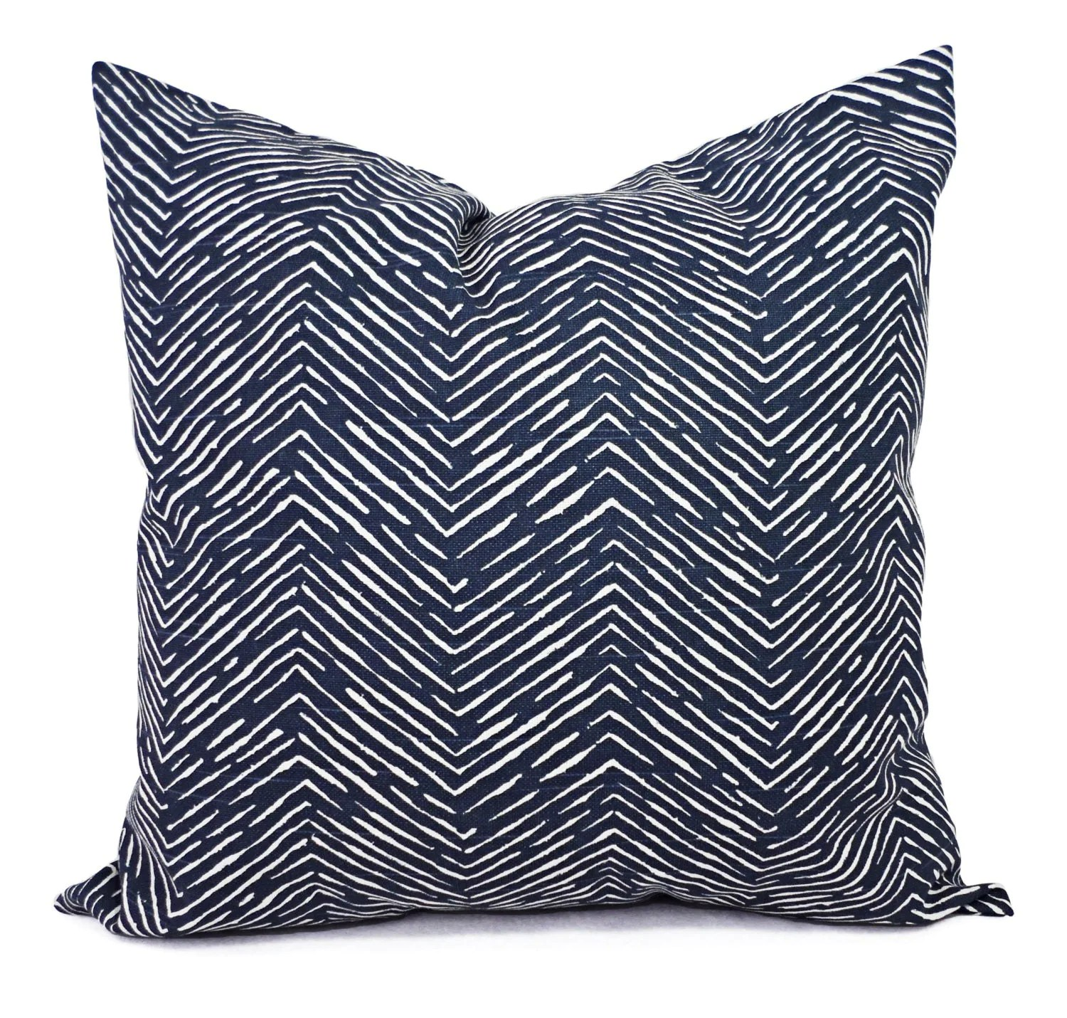Best Blue Decorative Pillow Covers Two Navy Chevron Throw Pillow This Month