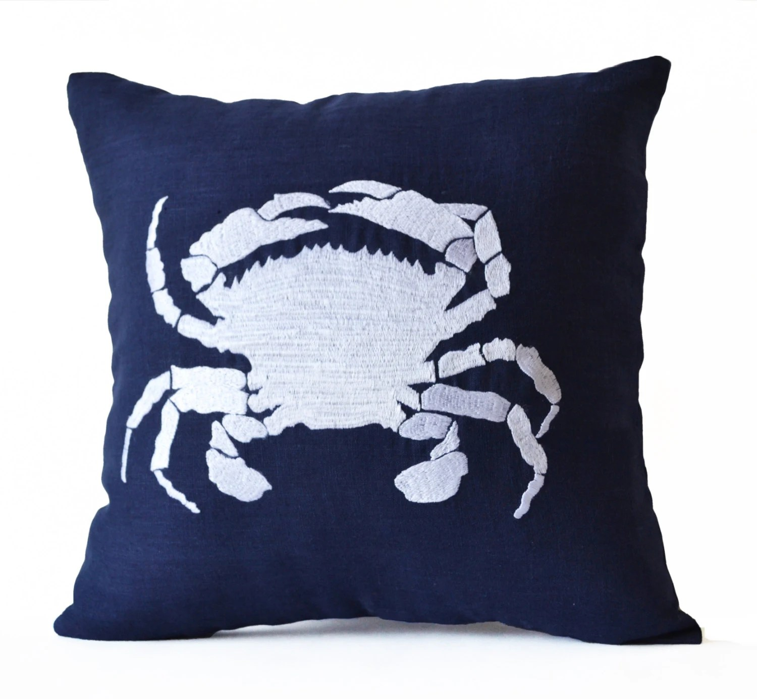Best Navy Blue Throw Pillow Case Beach Decor Nautical Pillows This Month