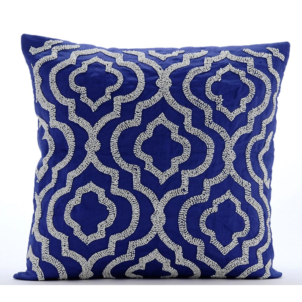 Best Handmade Blue Throw Pillow Covers 16X16 Cotton This Month