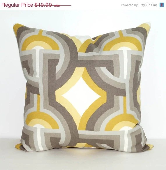 Best Grey Throw Pillow Yellow And Gray Accent Pillow Dwell Studio This Month