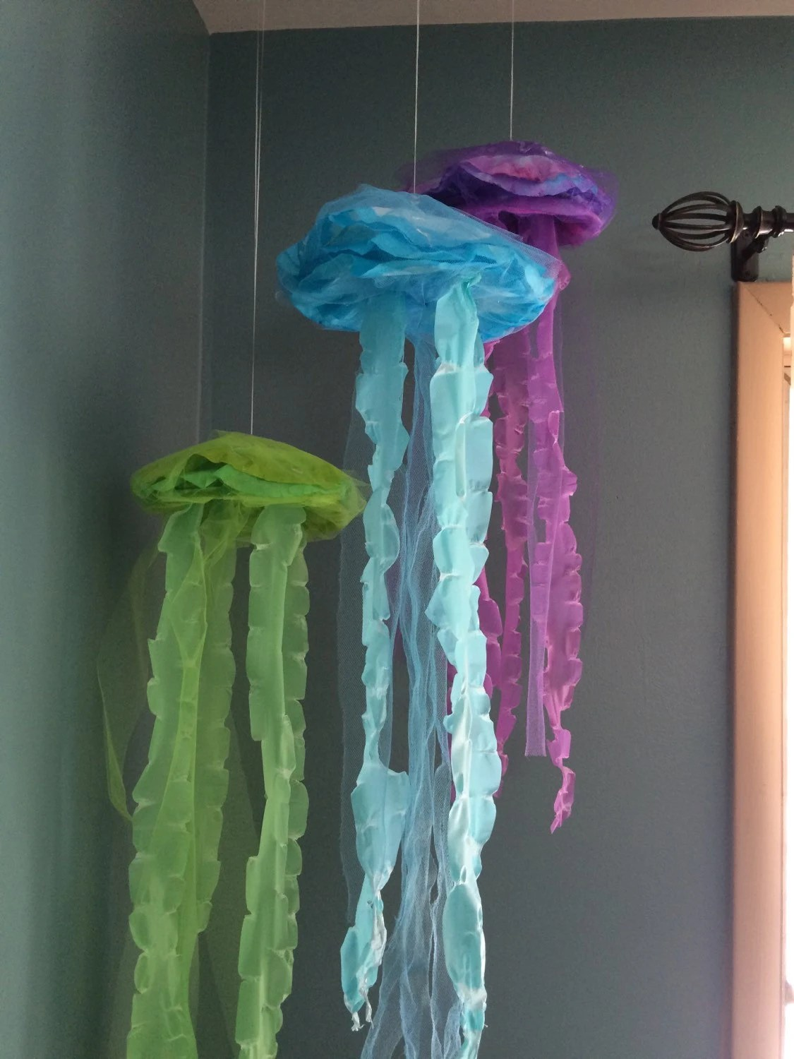 Best Jellyfish Hanging Decor Bubble Guppies Under The Sea Mermaid This Month