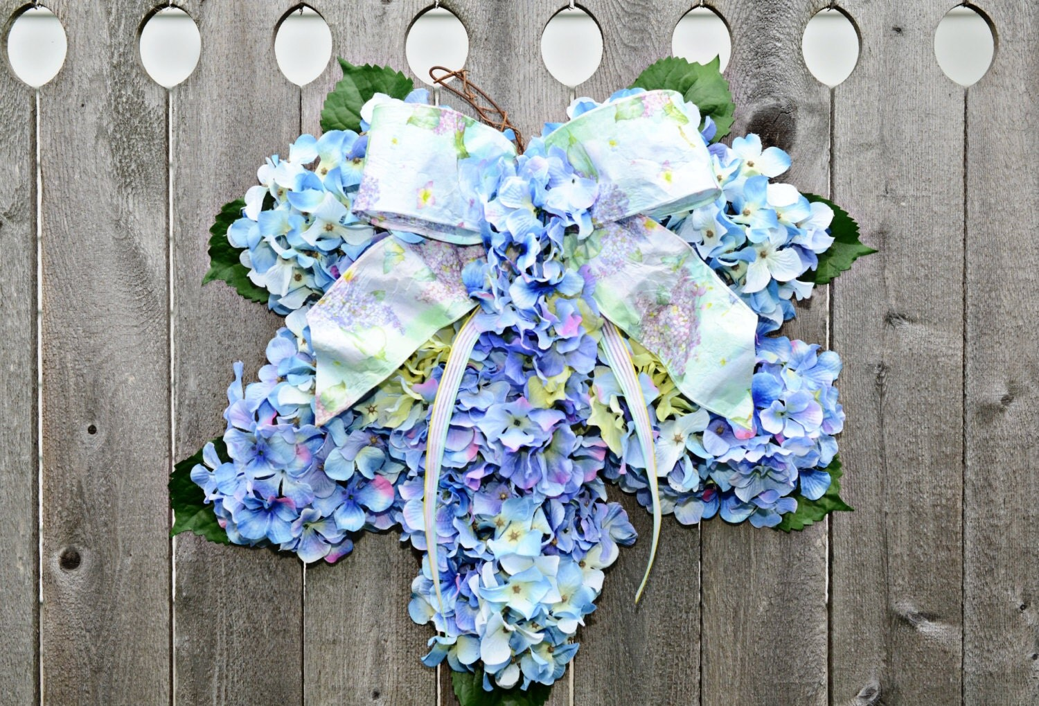 Best Hydrangea Spring Wreath Home Decor Blue By Julieshomecreations This Month