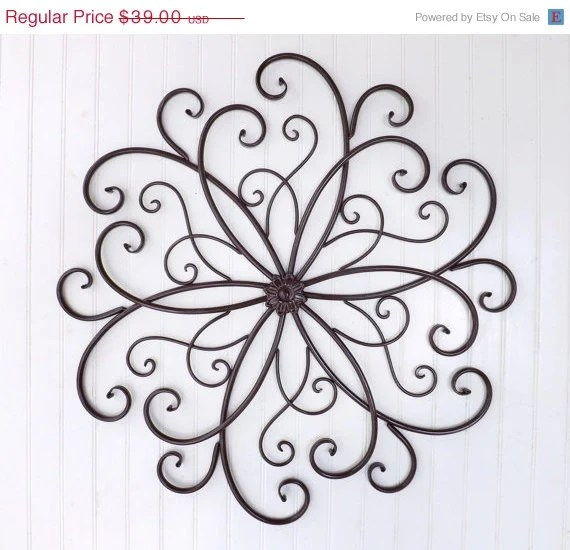 Best Summer Sale Large Wrought Iron Wall Decor By Theshabbyshak This Month