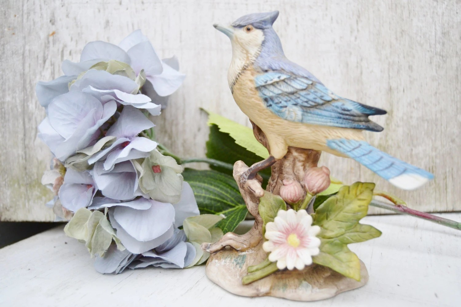 Best Blue Jay Porcelain Blue Bird Home Decor This Month