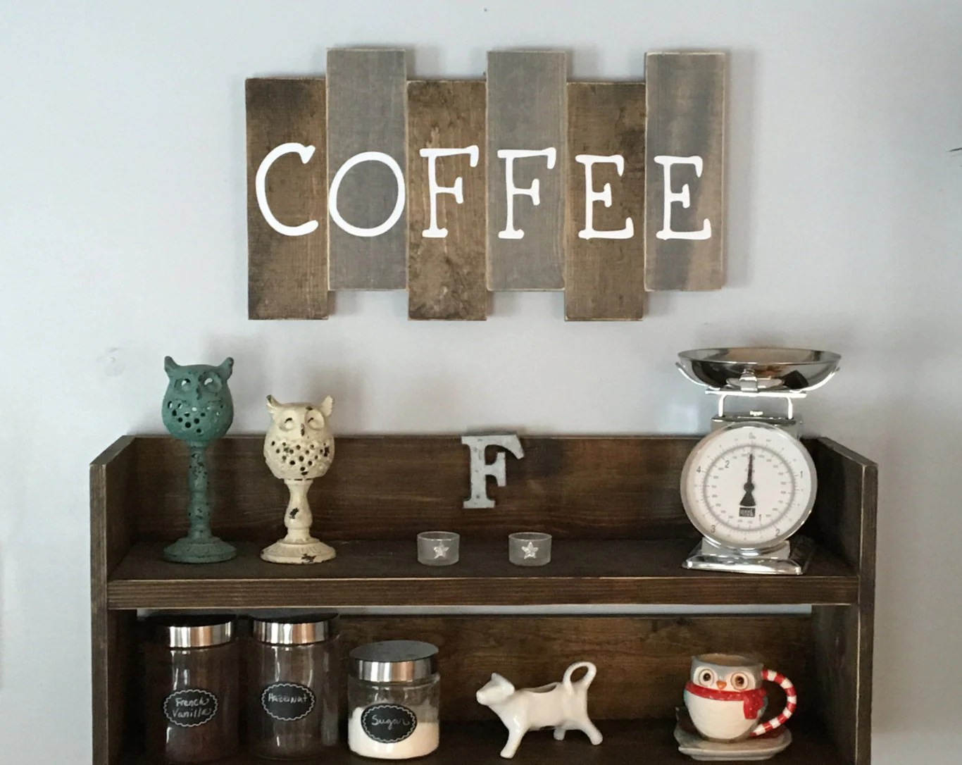 Best Wooden Coffee Sign Kitchen Decor Coffee Bar Reclaimed Wood This Month