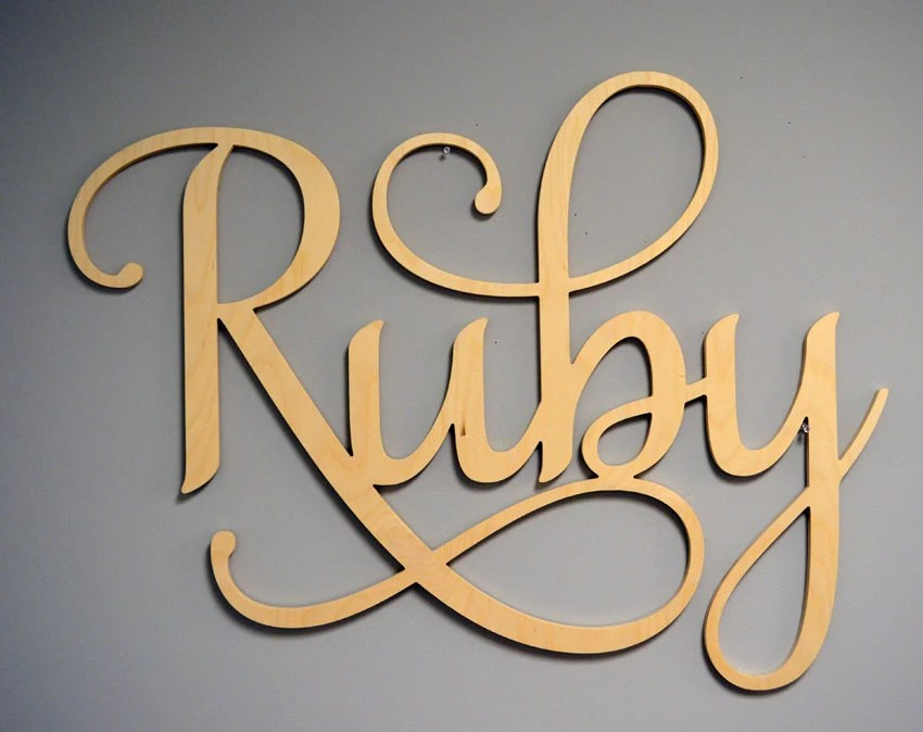 Best Decorative Wall Letters Nursery Decor Large Wooden Letters This Month