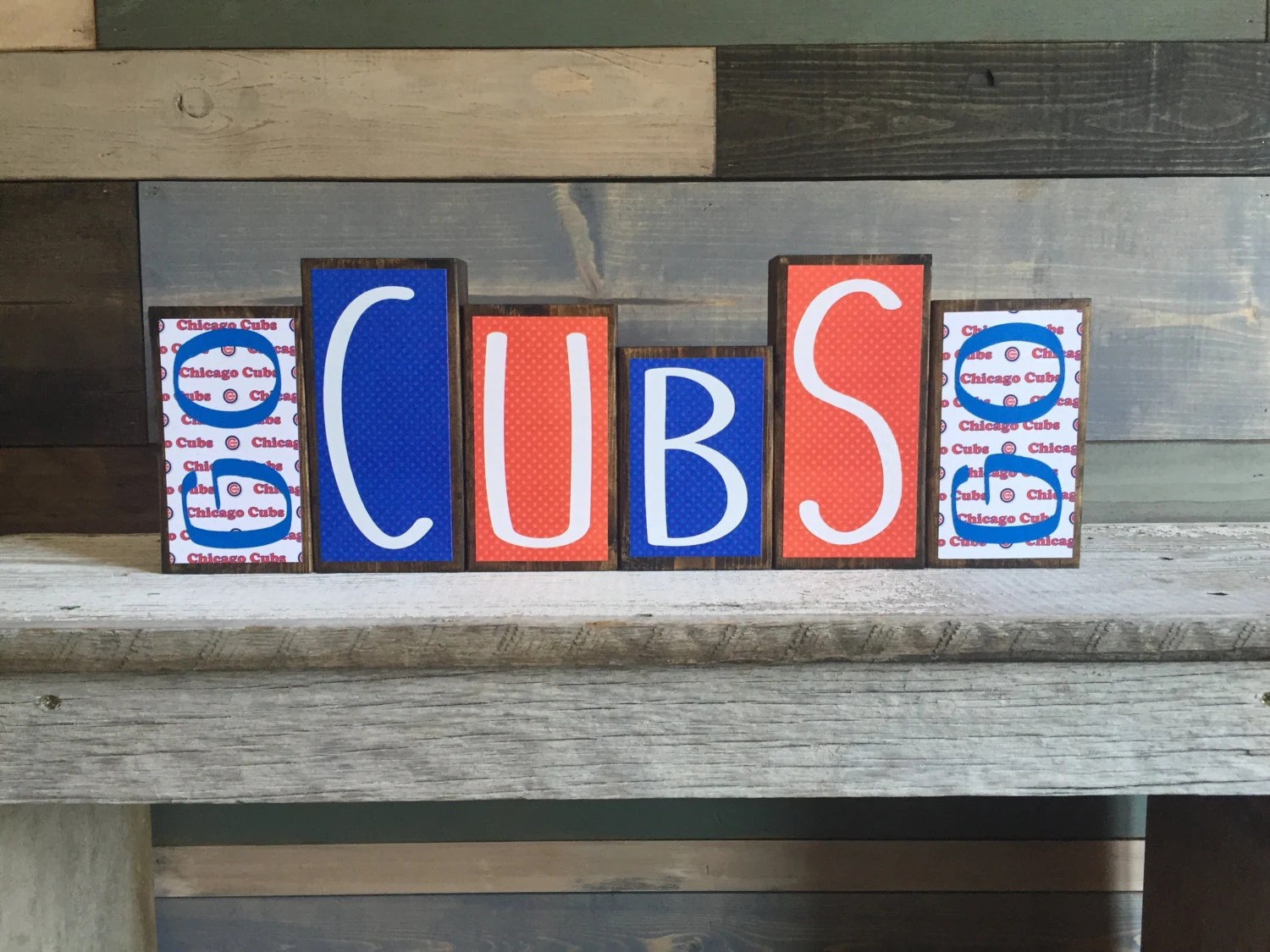 Best Home Decor Wood Blocks Chicago Cubs Cubs Mlb Baseball This Month