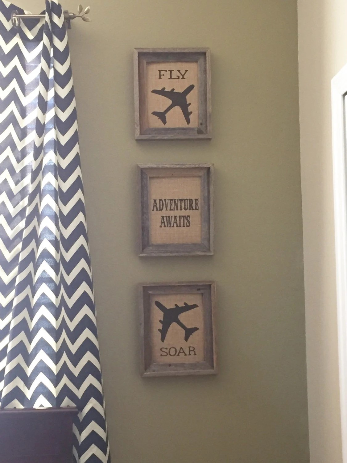 Best Burlap Wall Art Burlap Decor Boys Bedroom Airplane Room This Month