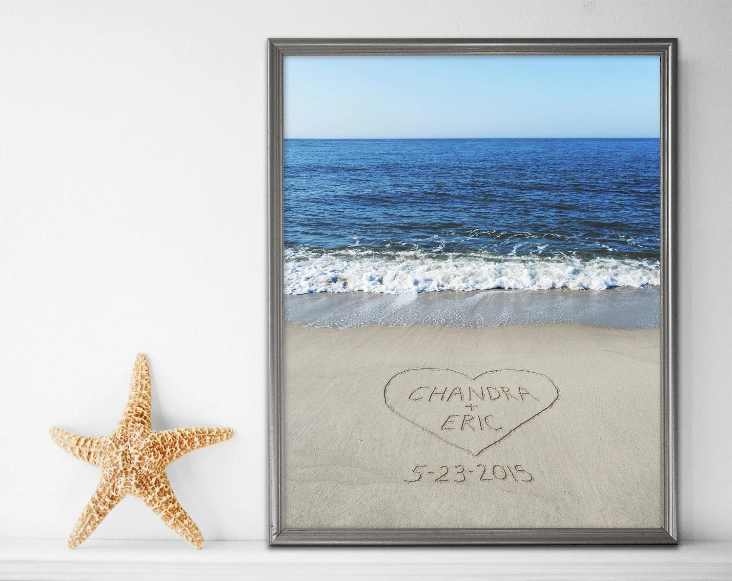 Best Sand Writing Personalized Print Beach Wall Art Beach Decor This Month