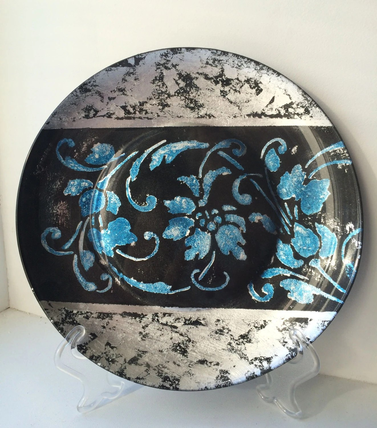 Best Decorative Glass Plate Hand Painted Plate Winter Patterns This Month