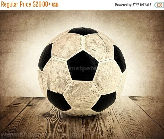 Best Black Friday Sale Vintage Soccer Ball On Wood By Shawnstpeter This Month