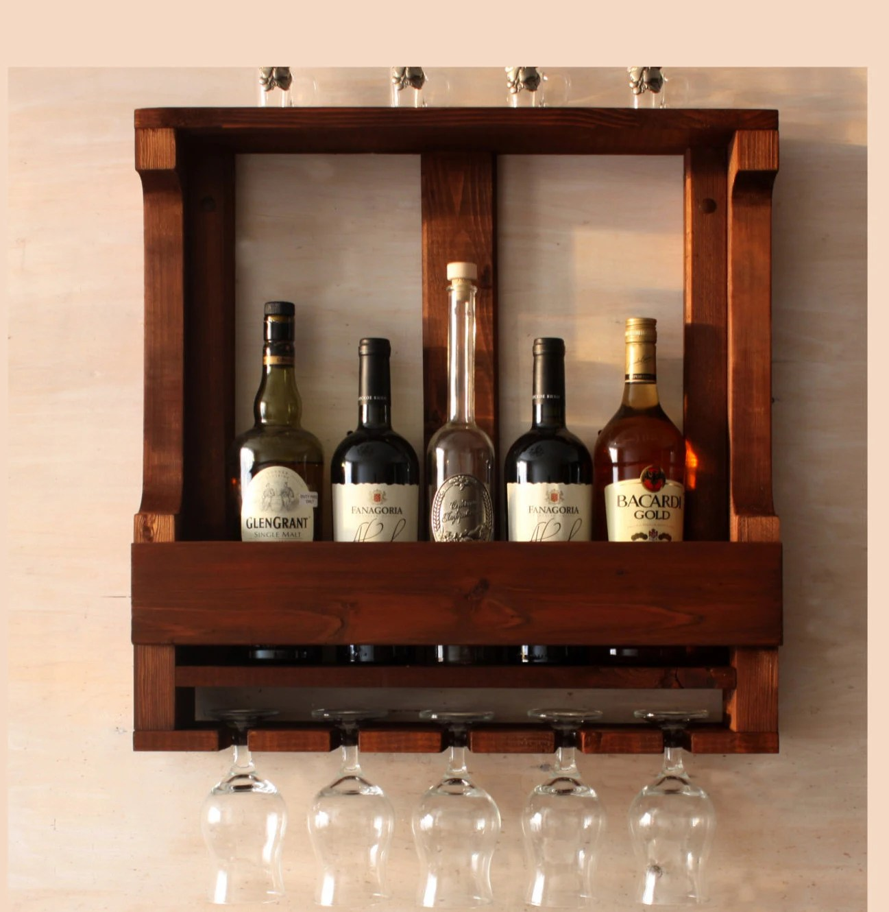 Best Wine Rack Wall Mounted Rustic Wine Rack Rustic Decor This Month